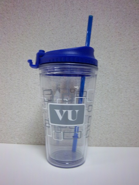 Image For TUMBLER GLASS W/LID&STRAW